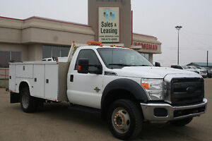 2011 Ford F-550 Chassis XLT, 4X4, DIESEL, TOOL BOX $36,876