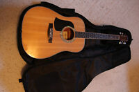 Left Handed Aria Acoustic Guitar