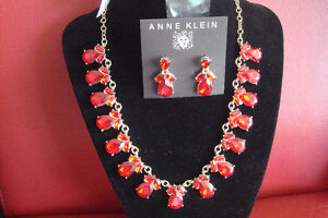 Anne Klein Red Crystal Necklaces