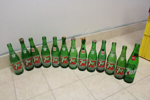 Mixed Lot of Green and Brown Pop Bottles - 35 bottles