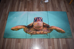 Turtle 3 Piece Panel Painting