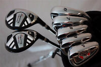Tall Golfers Delight: Mens RH Extended Length Hybrid & Iron Set