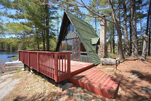 COTTAGE FOR SALE ON PRIVATE BAY ON GO HOME LAKE, MUSKOKA