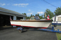 1957 wooden speed boat