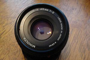 Minolta MD 45mm F2 pancake lens