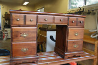 VINTAGE SOLID WOOD DESK **FREE DELIVERY IF CLOSE BY**