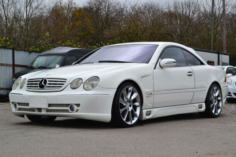 2003 03 mercedes benz cl 600 v12 lorinser pearl white 32000miles left hand drive in hillingdon. Black Bedroom Furniture Sets. Home Design Ideas