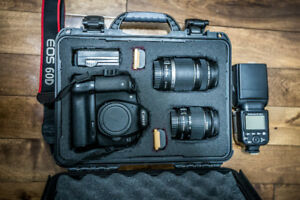 Canon 60D , & Studio Flush set & Nanuk 910 hard case & more