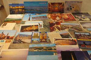 40 cartes postales neuves et usagées du Québec, Canada, Grèce, P