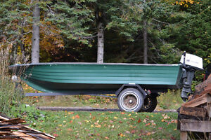 fishing boat with outboard