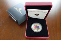 2013 Purple Coneflower with Venetian Glass Butterfly Silver Coin