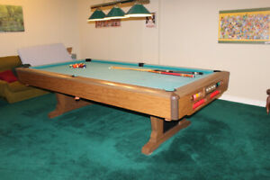 "Brunswick snooker table 100"" by 50"" (inside measurements)"