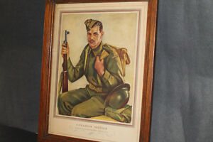 CANADIAN SOLDIER PRINT