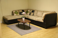 2  bedroom basement apartment with kitchen and bathroom for rent