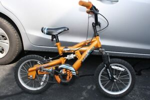 "Boy's Bicycle - 14"" wheels (training wheels included)"