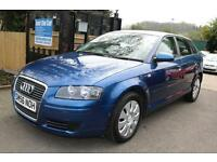 Audi A3 2.0 TDI SPORTBACK 170PS Blue 5 Door Long MOT