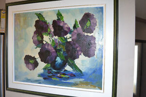 LARGE Jean Viens OIL PAINTING ON CANVAS MINT CONDITION