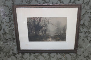 Old Print of Sheep Grazing