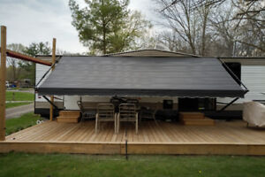 RV Trailer awning for sale. Used one season c\w arms.