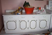Comptoir, armoire, évier (grande vanité de salle de bain)