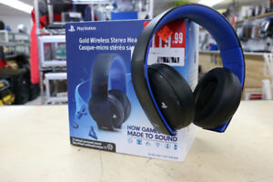 **GO FOR THE GOLD** PS Gold Wireless headset, CECHYA-0083