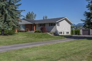 5 BEAUTIFUL ACRES WITH 4 BDRM HOME + SHOP!