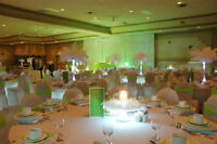 Gorgeous decor for rent white lycra chair and table covers!
