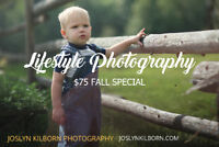 $75 Fall Lifestyle Photography Special!