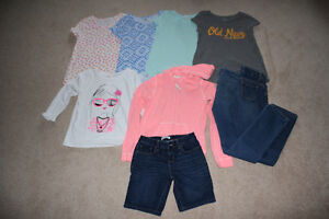 Lot of 9 Girls Spring/summer clothes - size 10 & 10-12 (L)
