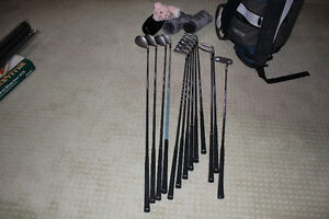 Ladies Wilson Golf Clubs, bag and cart