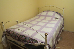 Antique Wrought Iron Bed with Mattress - Great condition