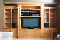 Wall unit and bookshelves