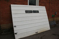 free steel garage door ready for pickup