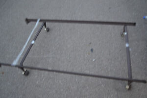 Adjustable Bed Frame With Wheels and Mattress / Box Spring