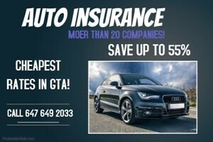 SAVINGS ON YOUR AUTO INSURANCE. *UP TO 55%*