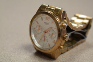 Guess Gold-Tone Chronograph Ladies Watch W16571L1