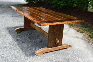 Custom Solid Wood Dining Tables (Live Edge & Reclaimed)