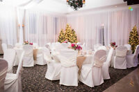 Chair Covers, Decor, Linen rentals and more