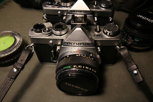 Olympus OM-1 - 2 lenses, extra body - 35mm Film Camera Windsor Region Ontario image 2