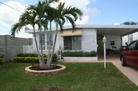 Maison mobile a louer, Hallandale Beach, Park lake