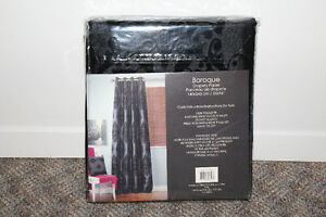 Set of black baroque curtains from Jysk