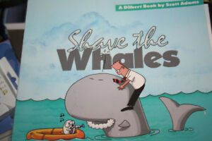 Dilbert signed Save the Whales comic book
