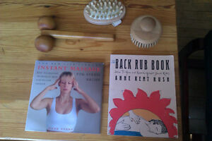 Massage set: Great books + massagers (Body Shop, etc)!