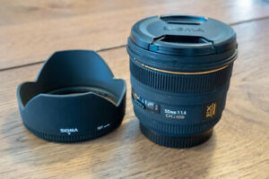 Sigma 50mm f/1.4 HSM DG  for Canon