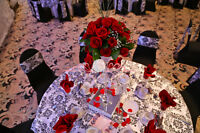 Tablecloths/Overlays/Runners Rentals at Pearl Decor