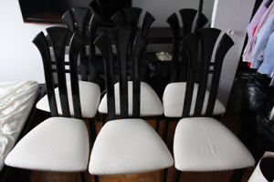 6 dining chairs (black lacquer)