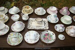 Assorted Cup & Saucers