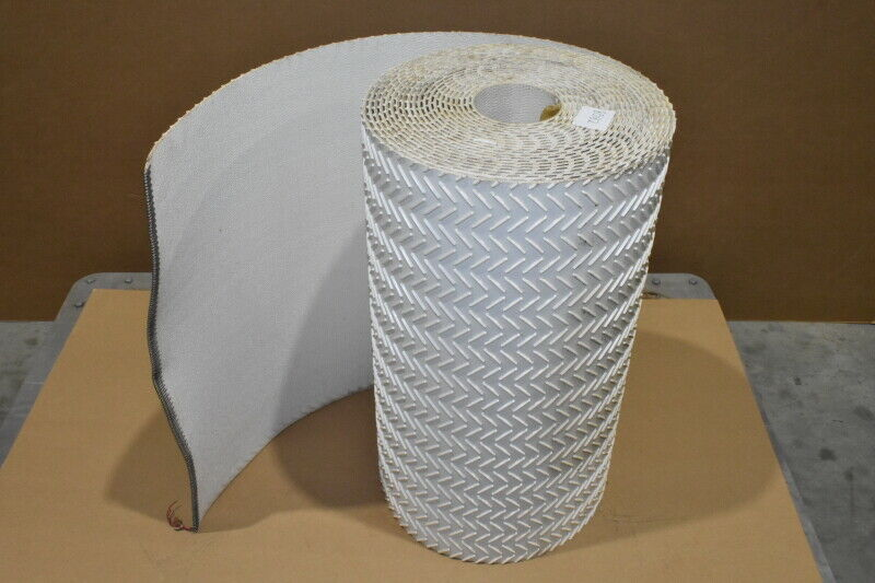 Incline Belt, Conveyor, ~49 ft x 24 in, Cleated, Herringbone, Lacing