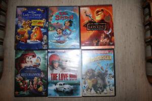 DISNEY Movies DVD $15 each LION KING Madasgar LADY AND THE TRAMP