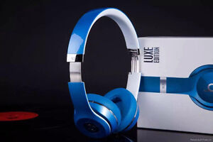 Beats Solo2 On-Ear Headphones, Luxe Edition, Blue , Noir Neuve
